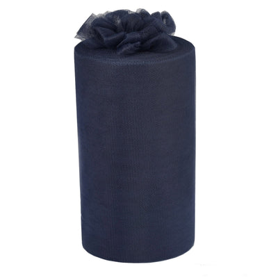 "9"" x 100 Yard Navy Blue Tulle Fabric by the Bolt"