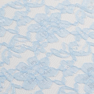 "6"" x 10 Yards Serenity Blue Floral Lace Fabric Bolt"