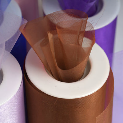 10 Yards Chocolate Sheer Organza Fabric Bolt by Yard For Wedding Bows Sash DIY Party Decor