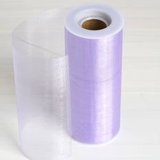 6 Inch x 10 Yards Lavender Sheer Organza Fabric Bolt | TableclothsFactory