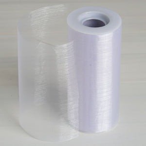 "Sheer Organza Fabric Bolt by Yard For Wedding Bows Sash Table Runner Party Decor - White - 6""x20 Yards"