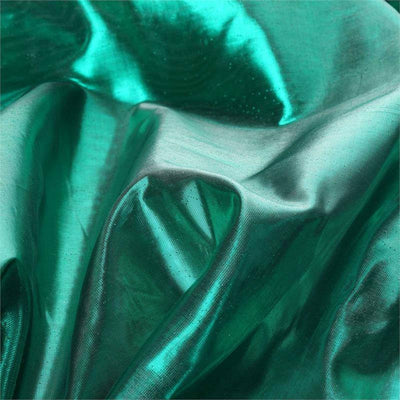 "54"" x 10 Yards Emerald Polyester Metallic Lame Fabric Bolts"