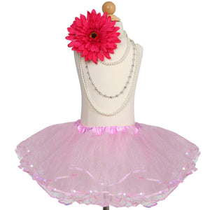 Cotton Candy Pink Sparkling Sequined Tutu Skirt