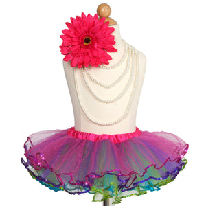Adventurous Multi-color Sequined Tutu Skirt