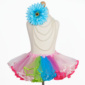 4 Layered Pink Rainbow Tutu Skirt