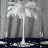 12 Pack | 24inch White Glass Flower Eiffel Tower Vases