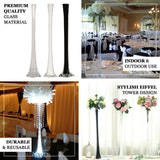28inch Eiffel Tower Wedding Glass Vases- 6 PCS-Black