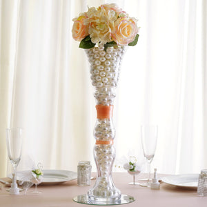 "4 Pack | 20"" Trumpet Glass Florist Vases"
