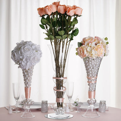 "4 Pack | 18"" Trumpet Glass Vase"