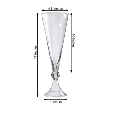 Reversible Crystal Ball Trumpet Glass Vase
