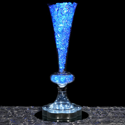 "4 Pack | 13"" Reversible Crystal Ball Trumpet Glass Vase"