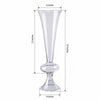 "4 Pack | 15"" Reversible Crystal Ball Trumpet Glass Vase"