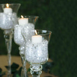 "Set of 3 | Hurricane Long Stem Glass Vase Candle Holders - 16""/14""/12"""