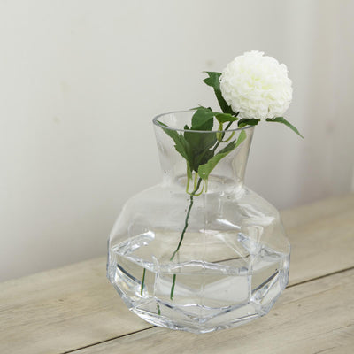 "2 Pack | 8"" Geometric Clear Glass Flower Vase Centerpieces 