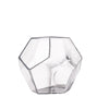 "2 Pack | 7"" Clear Glass Geometric Vases 