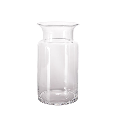 "2 Pack | 11"" Flared Neck Glass Vases 
