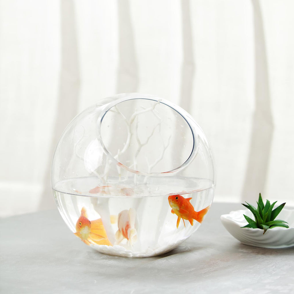 9 Slant Cut Round Clear Sphere Vase Hobnail Glass Bubble Vase Table Top Candle Holder Tableclothsfactory