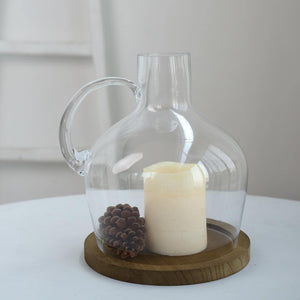 "10"" Heavy Duty Clear Glass Vases 