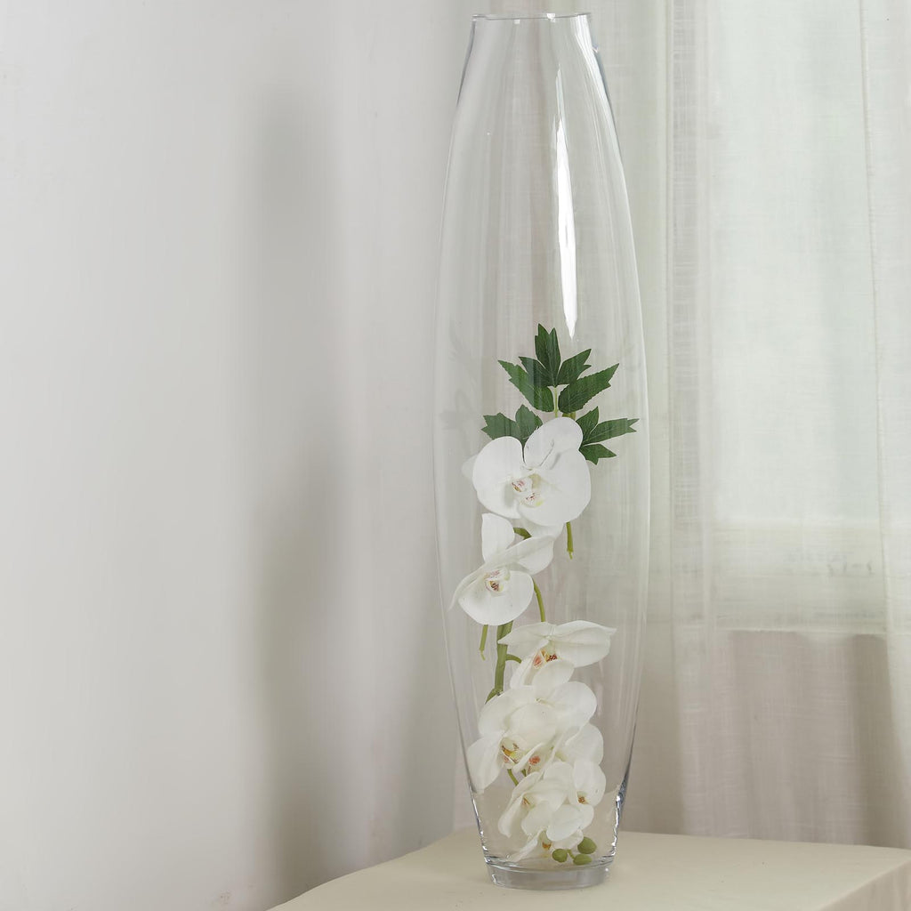 31 Clear Glass Cylinder Vase Tall Floor Vases Tableclothsfactory