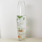"31"" Tall Tapered Cylinder Glass Vase 