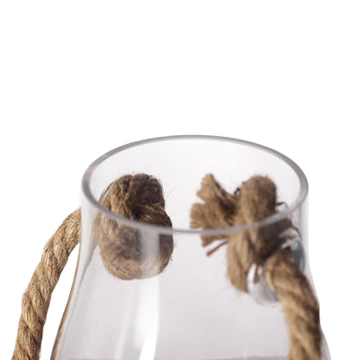 "2 Pack | 9"" Glass Hanging Vases 