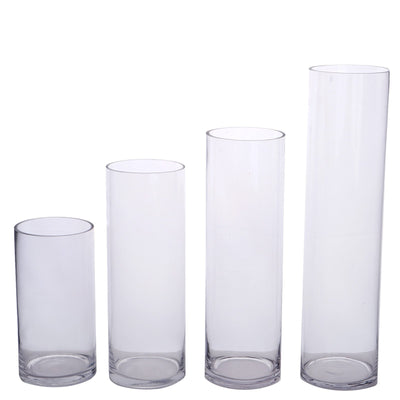 "12 Pack | 10"" Heavy Duty Cylinder Vase"