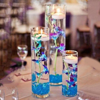 "6 Pack | 12"" Heavy Duty Cylinder Glass Vase"