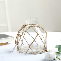 "8"" Tapered Neck Clear Glass Bud Vase 
