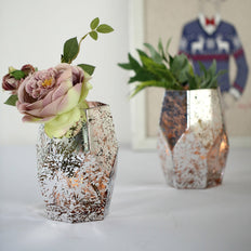 "2 Pack | 8"" Mercury Glass Vases 