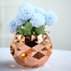 "2 Pack | 6"" Rose Gold Mercury Glass Vases 
