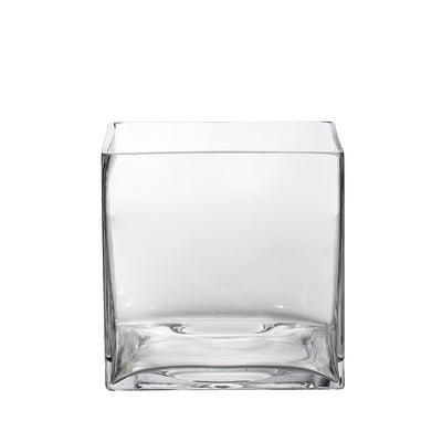"6 Pack | 6"" Flower Glass Vase"