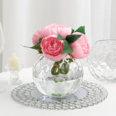Bubble Vase, Globe Vase, Glass Flower Vase, Sphere Vase