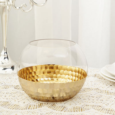 Glass Vase, Bubble Vase, Glass Candle Holders, Fish Bowl Vase