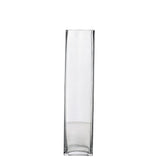 "12 Pack | 14"" Heavy Duty Square Cylinder Vase"
