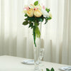 6 Pack | 20'' Clear Heavy Duty Trumpet Glass Vase