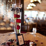 "12 Pack | 20"" Heavy Duty Trumpet Glass Vase Flower Decoration Centerpiece"