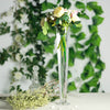 "6 Pack | 24"" Clear Heavy Duty Trumpet Glass Vase"