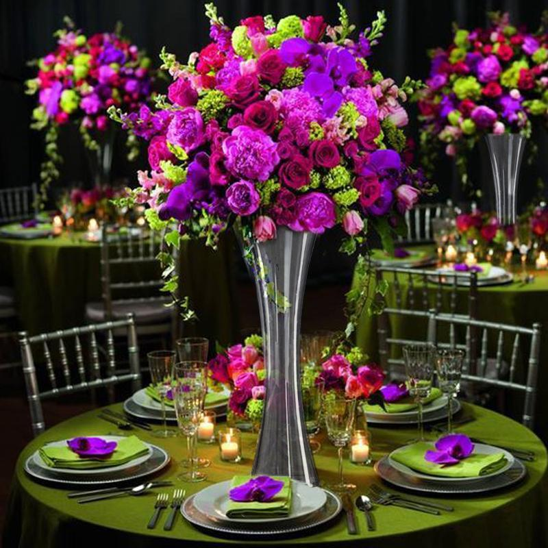 6 Pack 20 Heavy Duty Hour Glass Vase Tablecloths Factory
