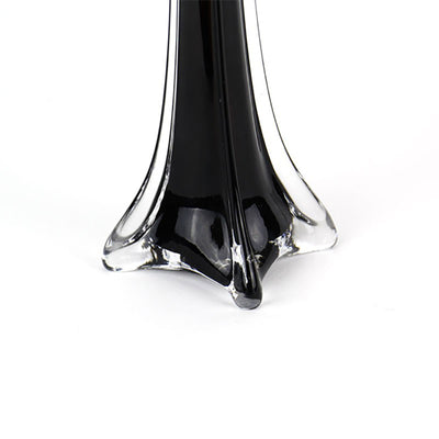 "6 Pack | 28"" Black Eiffel Tower Glass Flower Vase"