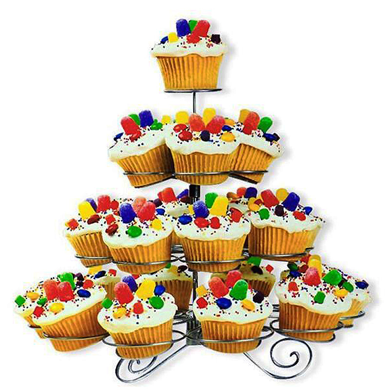 4 Tier Cupcake Tower Stand Tablecloths Factory