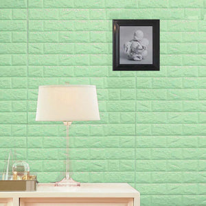 10 Pack | 58 Sq.Ft Mint Green Foam Brick Wall Tiles Peel and Stick 3D Wall Panel Room Decor