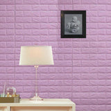 10 Pack | 58 Sq.Ft Lavender Foam Brick Wall Tiles Peel and Stick 3D Wall Panel Room Decor