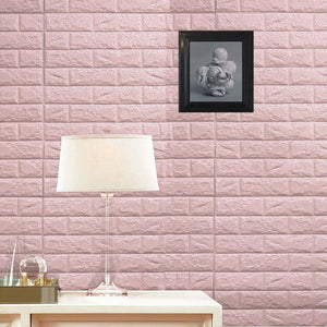 10 Pack | 58 Sq.Ft Blush Pink Foam Brick Wall Tiles Peel and Stick 3D Wall Panel Room Decor