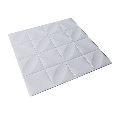 52 Sq Ft White 3D Foam Diamond Ceiling Tiles Self Adhesive Wall Panels