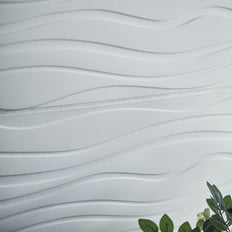 40 Sq Ft White 3D Foam Waves Wall Panels Self Adhesive Ceiling Tiles