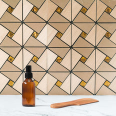 10 Pack | 10 Sq.Ft Copper Metal Wall Tiles Peel and Stick Backsplash Rhinestone Studded 3D Wall Panels