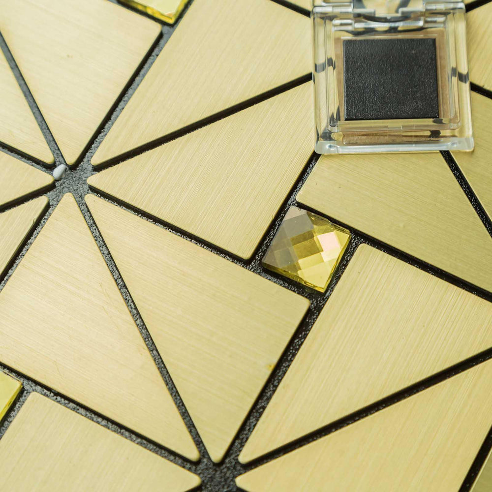 10 Pack | 10 Sq.Ft Gold Metal Wall Tiles Peel and Stick Backsplash ...
