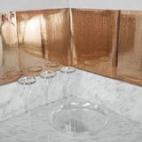 "10 Pack Peel and Stick Self Adhesive Rose Gold Mosaic Mirror Backdrop Wall Tile - 12""x12"""