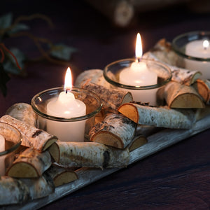 "Wooden Candle Holder | 16""Long 