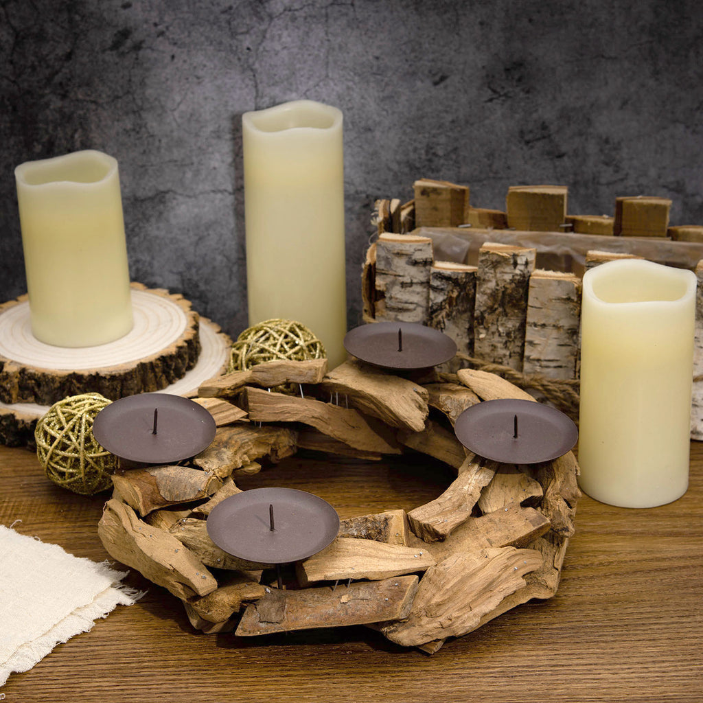 Wooden Candle Holders Rustic Candle Holders Tableclothsfactory